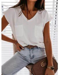 Κοντομάνικο μπλουζάκι - κώδ. 920 - λευκό