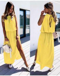 Φόρεμα - κώδ. 708 - κίτρινο