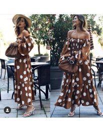 Φόρεμα - κώδ. 9951 - καφέ