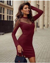 Φόρεμα - κώδ. 2484 - μπορντό