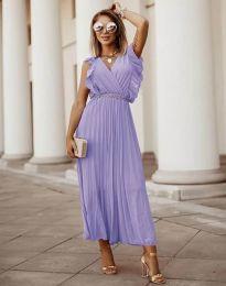 Φόρεμα - κώδ. 3320 - μωβ
