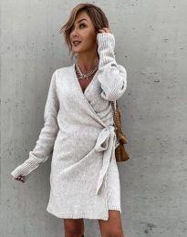 Φόρεμα - κώδ. 9846 - μπεζ