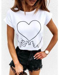 Κοντομάνικο μπλουζάκι - κώδ. 2266 - λευκό