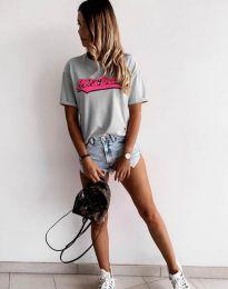 Κοντομάνικο μπλουζάκι - κώδ. 6369 - γκρι