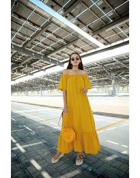 Φόρεμα - κώδ. 3636 - μουσταρδί