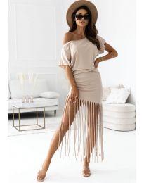 Φόρεμα - κώδ. 12003 - μπεζ