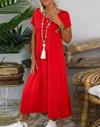 Φόρεμα - κώδ. 6357 - 2 - κόκκινο