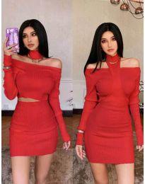 Φόρεμα - κώδ. 3982 - κόκκινο