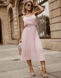 Φόρεμα - κώδ. 1249 - ροζ