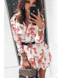 Φόρεμα - κώδ. 5514 - 1 - λευκό