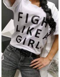 Κοντομάνικο μπλουζάκι - κώδ. 467 - 1 - λευκό