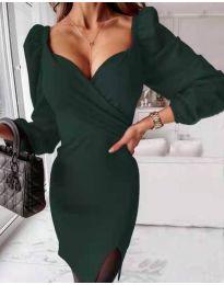 Φόρεμα - κώδ. 2595 - σκούρο πράσινο