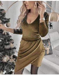 Φόρεμα - κώδ. 2129 - καφέ