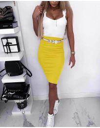 Φόρεμα - κώδ. 615 - κίτρινο
