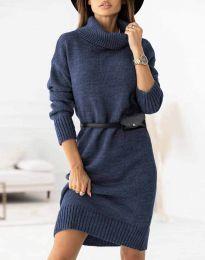 Φόρεμα - κώδ. 0393 - σκούρο μπλε