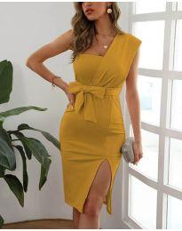 Φόρεμα - κώδ. 6153 - μουσταρδί