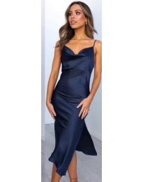 Φόρεμα - κώδ. 7161 - μπλε