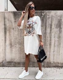 Φόρεμα - κώδ. 11864 - λευκό