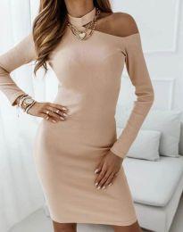 Φόρεμα - κώδ. 4859 - μπεζ