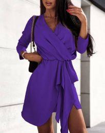 Φόρεμα - κώδ. 2879 - σκούρο μωβ