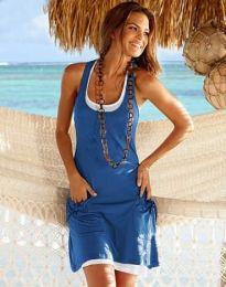 Φόρεμα - κώδ. 9076 - 2 - μπλε