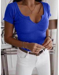 Κοντομάνικο μπλουζάκι - κώδ. 3667 - μπλε