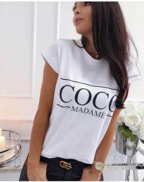 Κοντομάνικο μπλουζάκι - κώδ. 3576 - λευκό