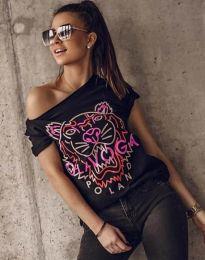 Κοντομάνικο μπλουζάκι - κώδ. 11721 - μαύρο