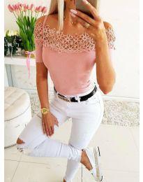 Κοντομάνικο μπλουζάκι - κώδ. 3912 - ροζ