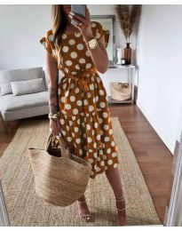 Φόρεμα - κώδ. 1415 - καφέ