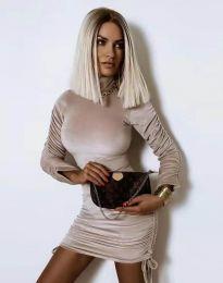 Φόρεμα - κώδ. 4920 - μπεζ