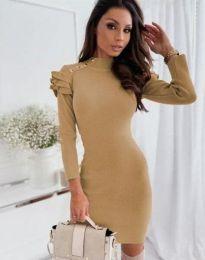 Φόρεμα - κώδ. 9652 - 2 - μπεζ