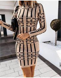 Φόρεμα - κώδ. 0258 -  Μπεζ