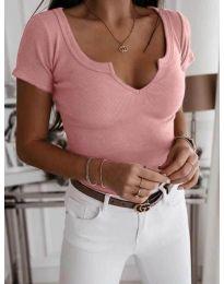 Κοντομάνικο μπλουζάκι - κώδ. 3667 - ροζ