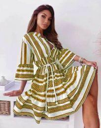 Φόρεμα - κώδ. 1481 - μουσταρδί