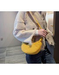 Дамска чанта в цвят горчица тип банан - код B156
