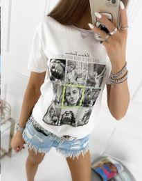 Κοντομάνικο μπλουζάκι - κώδ. 2353 - λευκό