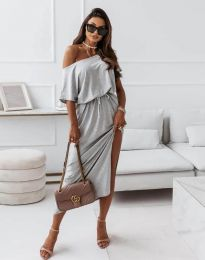 Φόρεμα - κώδ. 11973 - σκούρο γκρι