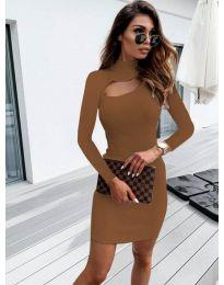 Φόρεμα - κώδ. 883 - καφέ