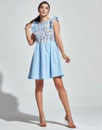 Φόρεμα - κώδ. 1482 - 4 - γαλάζιο