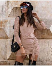 Φόρεμα - κώδ. 9545 - πούδρα