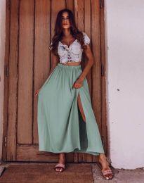 Дамска пола в цвят мента с цепка - код 8231