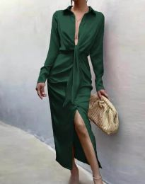 Φόρεμα - κώδ. 6459 - σκούρο πράσινο