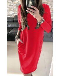 Φόρεμα - κώδ. 507 - 3 - κόκκινο