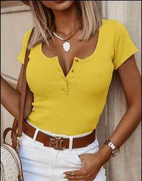 Κοντομάνικο μπλουζάκι - κώδ. 3233 - κίτρινο
