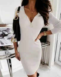 Φόρεμα - κώδ. 9807 - 1 - λευκό