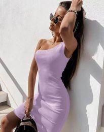 Φόρεμα - κώδ. 6412 - ανοιχτό μωβ