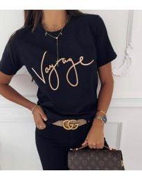 Κοντομάνικο μπλουζάκι - κώδ. 3350 - μαύρο