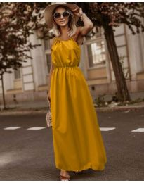 Φόρεμα - κώδ. 3323 - μουσταρδί