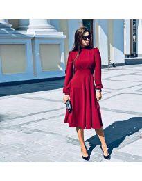 Φόρεμα - κώδ. 4572 - κόκκινο